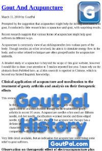 Gout and Acupuncture Document Change History