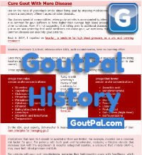 Cure Gout With More Disease Doc Change History