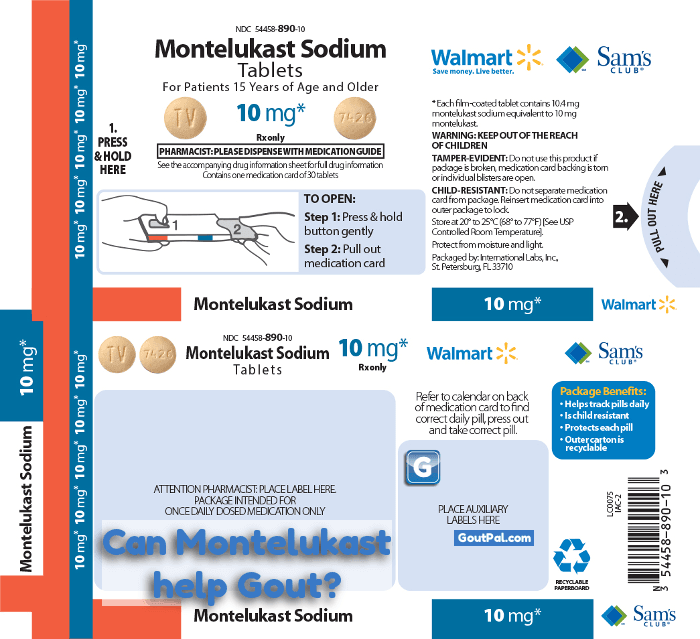 Montelukast & Gout temporary image