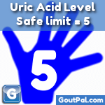 Uric Acid Level 5 Safe