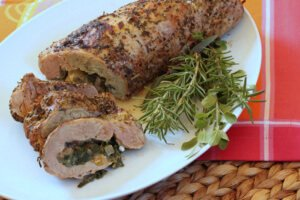 Moderate Purine Spinach-stuffed Pork Tenderloin photo