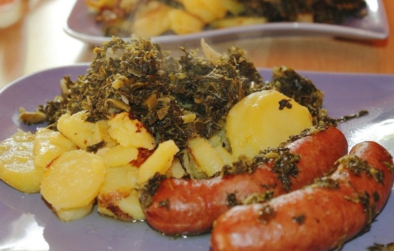 Cooked Kale - Gout Food meal photo